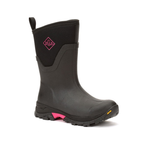 Women's Muck Arctic Ice Mid Winter Boot Black and Hot Pink