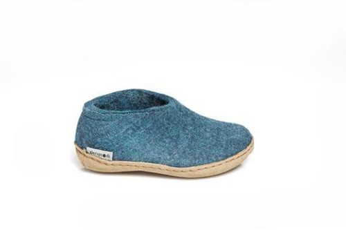 Kid's Glerups  Shoe Blue with Leather Sole