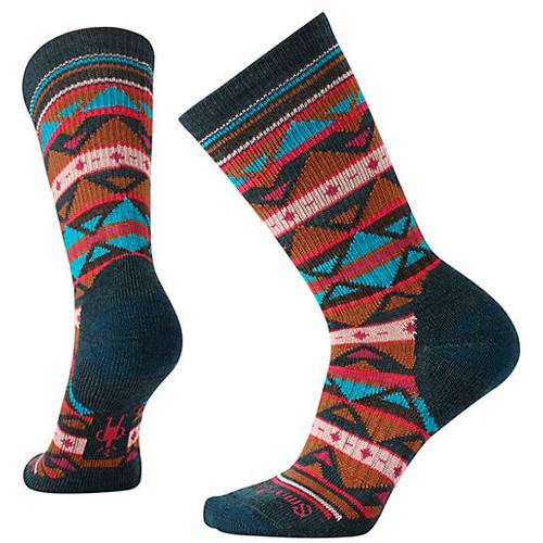 Women's Premium Crystal Grid Crew Socks
