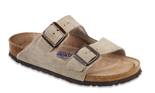 Birkenstock Arizona Taupe Suede Soft Footbed FREE SHIPPING