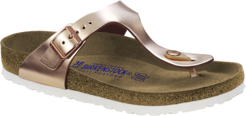 Birkenstock Gizeh Metallic Copper Leather Soft Footbed