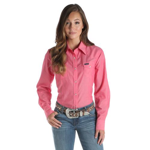 Women's Wrangler Pink Long Sleeve