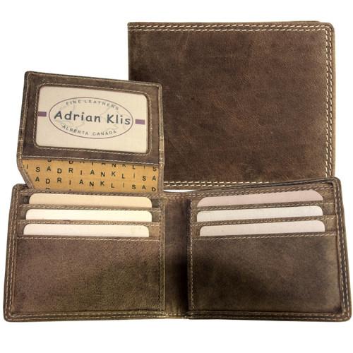 Adrian Klis Brown Bifold Wallet 212