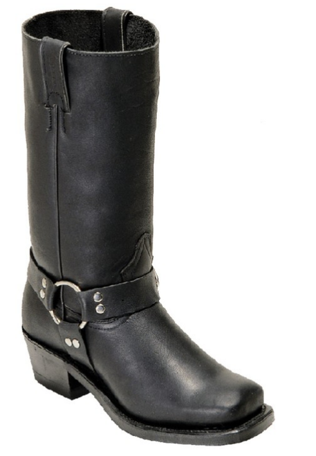 Women's Boulet Black Harness Motorcycle Boot *Sub-Standard*