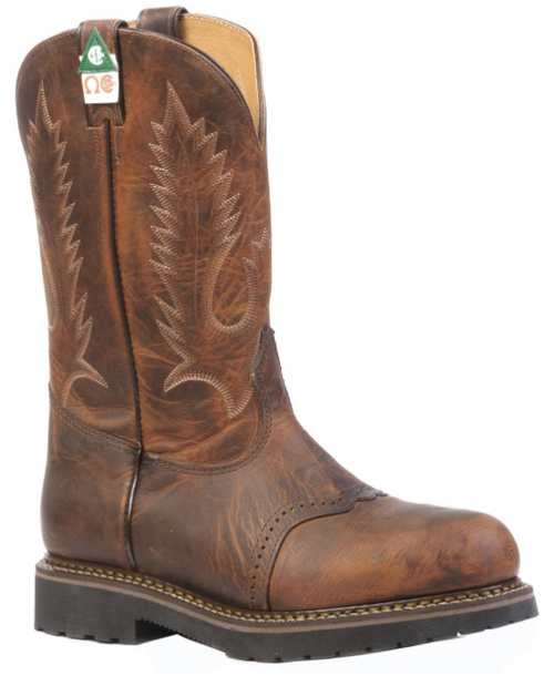 Boulet 4374 Tan Spice Western Work Boot