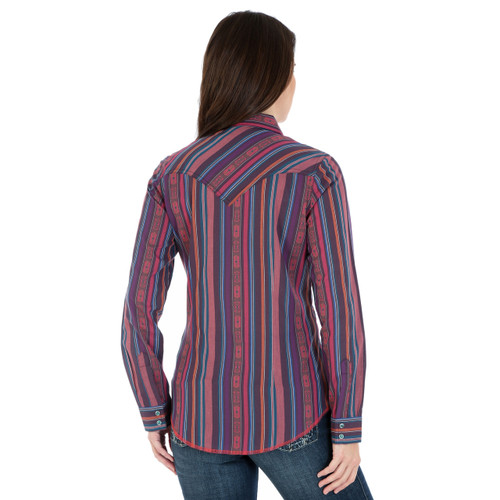2114c68d Women's Wrangler Pink and Purple Striped Shirt; Women's Wrangler Pink and  Purple Striped ...