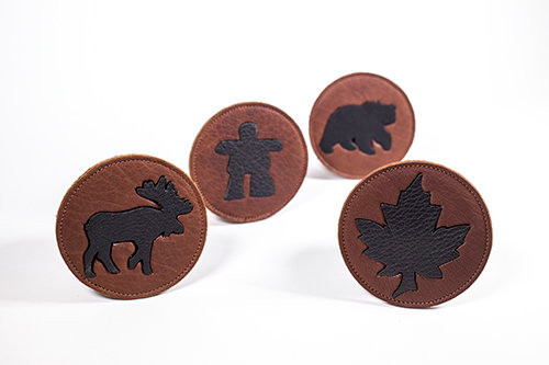 Hides In Hand Leather Coaster