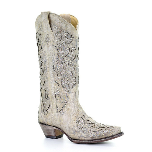 Corral Women's Martina White Wedding Boot