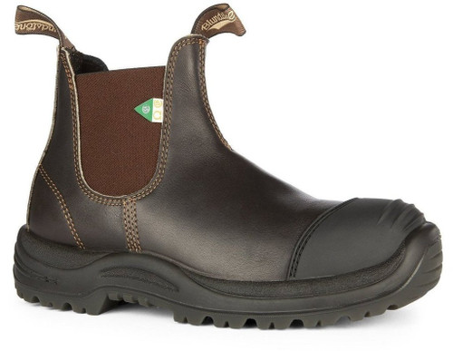 Blundstone 167 Stout Brown CSA Rubber Toe Cap Safety Boot *FREE SHIPPING