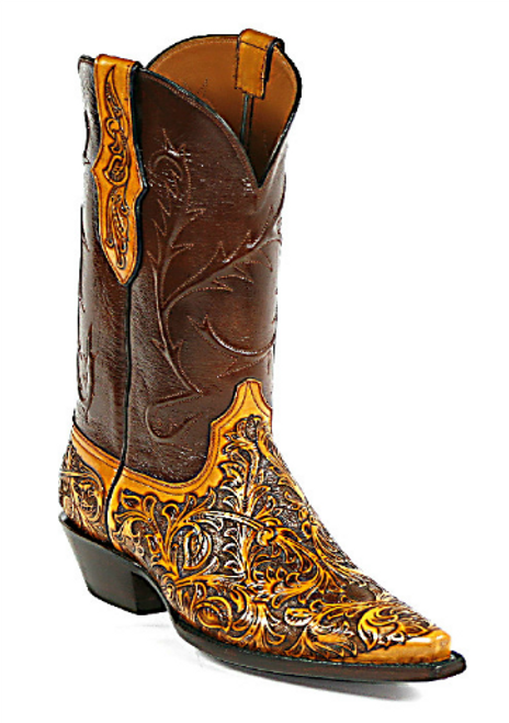 Men's Black Jack Boots Handtooled Western Boot