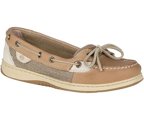 Women's Sperry Angelfish Linen Oat Boat Shoe