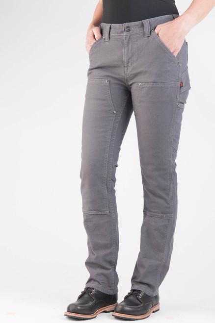 Women's Dovetail Workwear Maven Slim Grey Stretch Canvas Work Pant