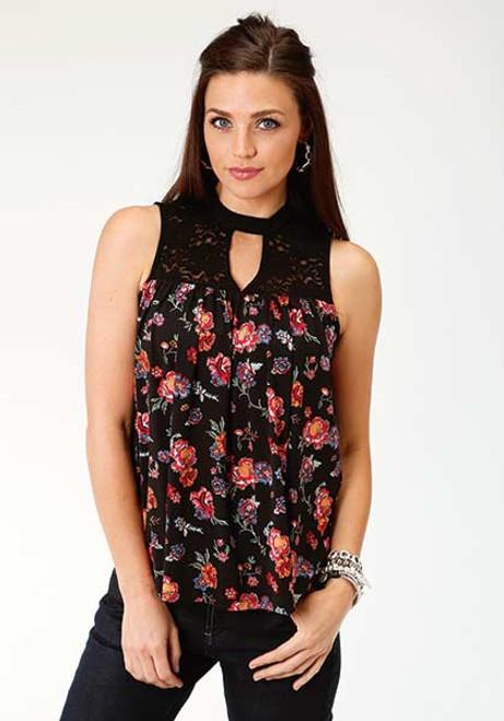 Women's Roper Sleeveless Printed Jersey Shirt