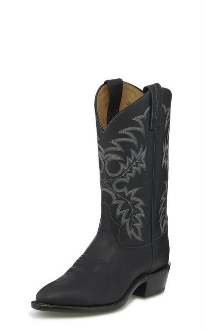 Tony Lama Black Western Boots *Wide Width*