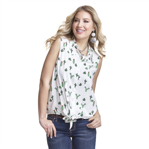 Women's Wrangler Sleeveless Cactus Shirt