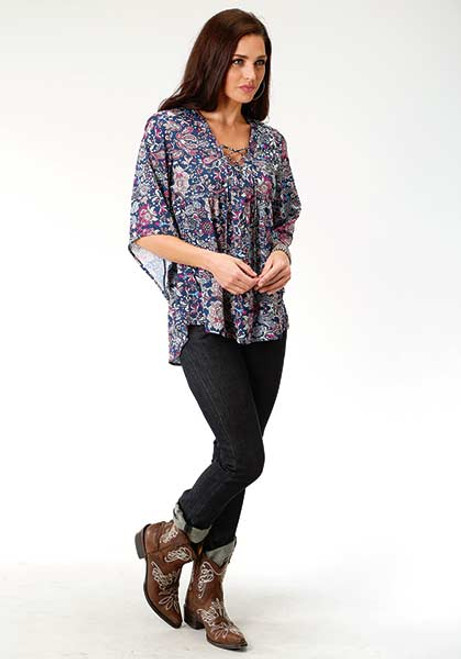 Women's Roper Printed Peasant Blouse