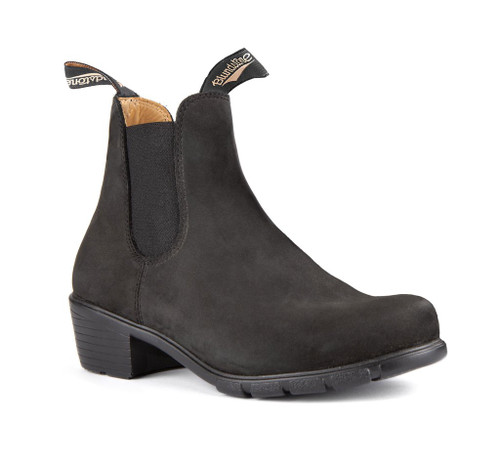 Blundstone 1960 Women's Series with Heel Black Nubuck *Free Shipping*