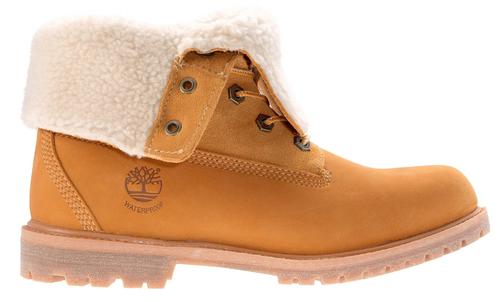 Women's Timberland Teddy Fleece Wheat Fold Down Boot