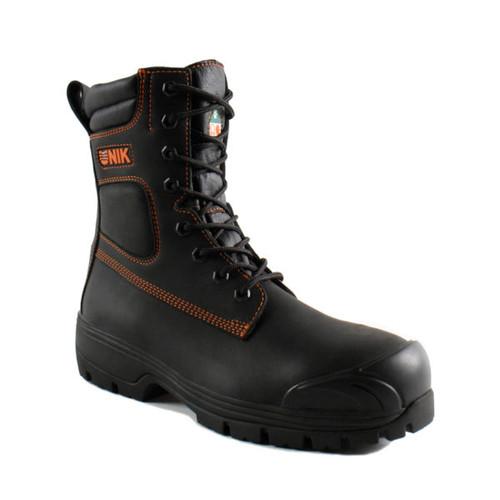 """UNIK Industrial 8"""" Black Waterproof Work Boot"""