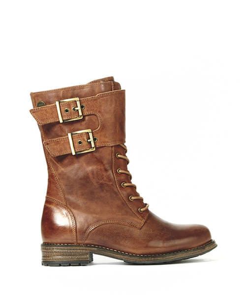 Women's Bulle Olibem Tall Cognac Winter Boot with Zipper