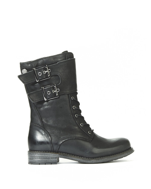 Women's Bulle Olibem Tall Black Winter Boot with Zipper