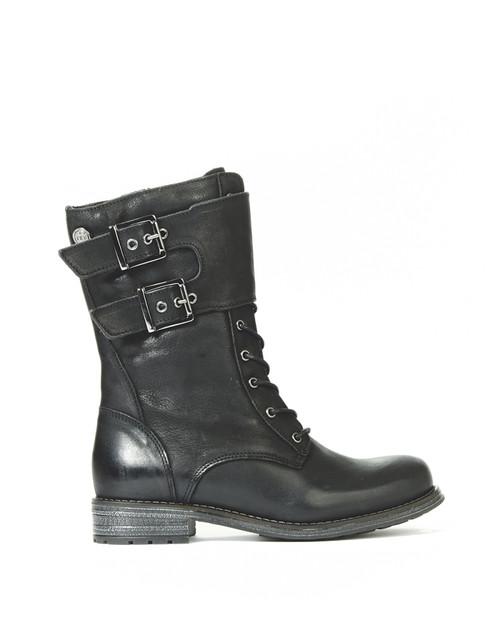 Women's Bulle Olibem Black Winter Boot with Zipper