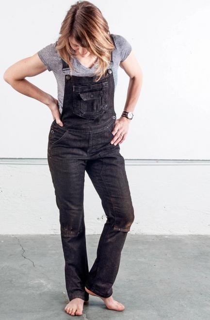 Women's Dovetail Workwear Freshly Overall Black Denim