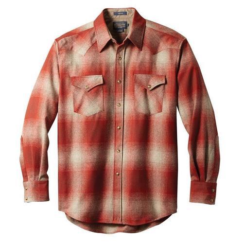 Men's Pendleton Red / Tan Ombre Canyon Shirt