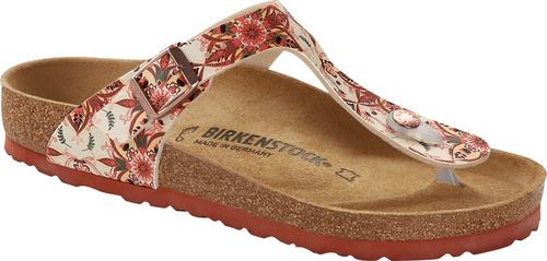 Birkenstock Gizeh Boho Flowers Red Sandal