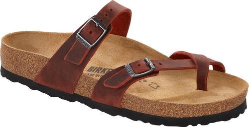 Birkenstock Mayari Earth Red Leather Sandal