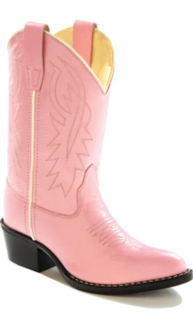 Old West Kid's Pink Boots