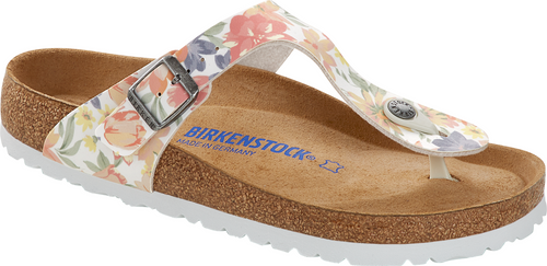 Birkenstock Gizeh Supernatural Flowers White Soft Footbed
