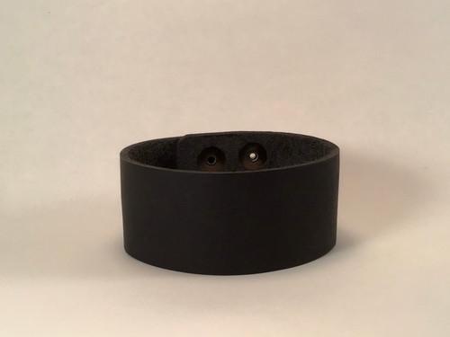 Leather Cuff Plain - Black
