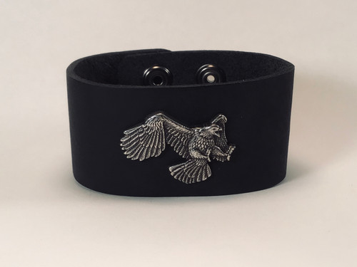 Leather Cuff with Flying eagle