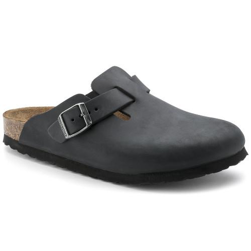 Birkenstock Boston Oiled Black Leather