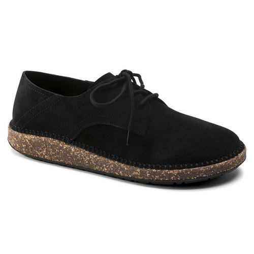 Birkenstock Gary Black Suede Leather Shoe