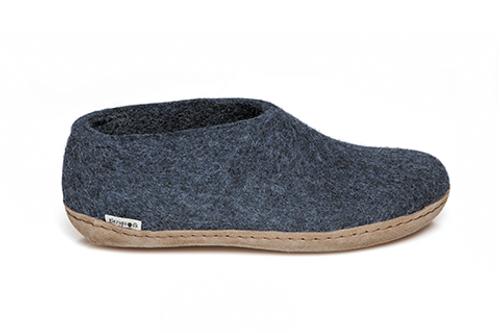 Glerups Denim Wool Leather Sole Shoe