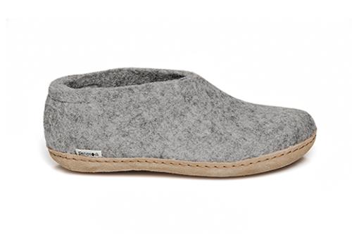 Glerups Grey Wool Leather Sole Shoe