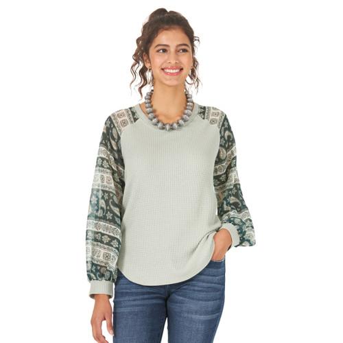 Women's Wrangler Contrast Sleeve Shirt