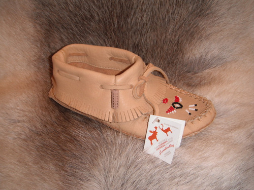 Laurentian Chief Moose Hide Low Fringed Moccasin