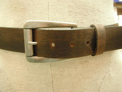 Keldon Distressed  Brown Leather Belt