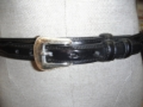 Black Leather Ranger Belt