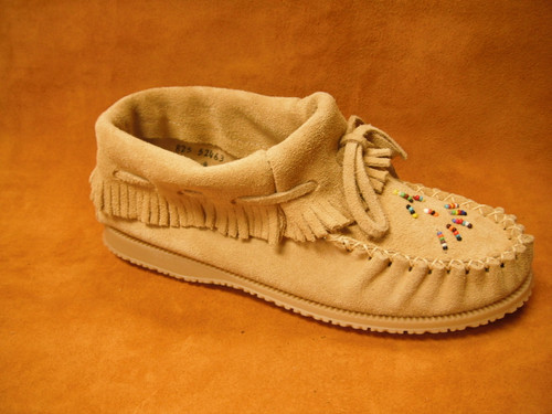 Women's Amimoc Suede Papoose Moccasin with Rubber Sole