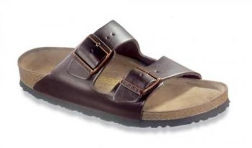 Birkenstock Arizona Dark Brown Leather Soft Footbed Sandal