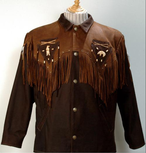 Luc Des Rosiers Native Bear Leather Coat