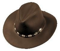 Henschel Hats Chocolate Brown Leather Hat - Herbert s Boots and ... ce91ce9eab1