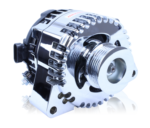 Mechman Billet Series 170 amp racing alternator for C6 Corvette - Chrome Finish