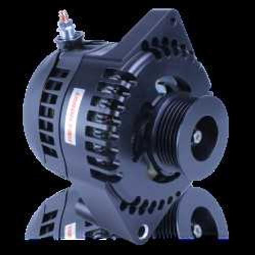 S Billet Series  170 amp racing alternator - 6/12 Ford 6S 1 Wire-Black