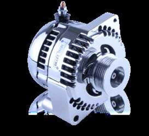S Billet Series  170 amp racing alternator - 6/12 Ford 6S 1 Wire-Chrome