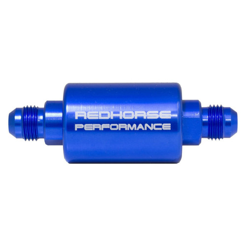 Redhorse -08 inlet -08 outlet AN high flow fuel filter - blue